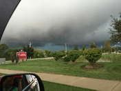 Storm clouds in Franklin Wisconsin
