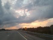 Sun set over La Platte, Ne