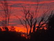 sunset in North bangor NY