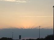 Sunset from Walmart in Kernersville.