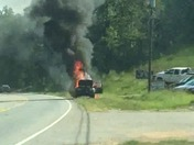 Car fire Farrs bridge road
