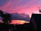 Sunset sky in Greer.