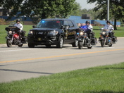 Sheriff's Procession For Brandon Collins