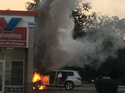 Car fire in Peters Township