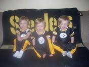Triplet Steeler fans!