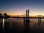 Evening walk on the four stations bridge!