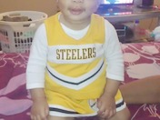 Johonna was Steeler ready!!!