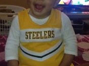 Johonna was Steeler ready!!!
