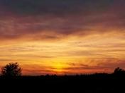 Beautiful sunset over Kimball Fruit Farm