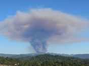 Loma Prieta fire from Weston Road SV