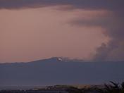 Santa Cruz Mountains fire visible across Monterey Bay