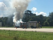 Truck on Fire 11:55am