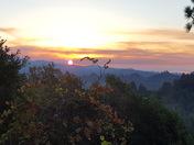sunrise at the Loma Prieta fire day 3