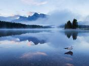 Sunrise at Two Jack Lake, Banff