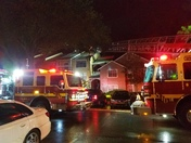 Lightning strikes apartment building