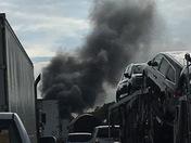 Fire on I-95