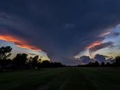 ominous skies tonight in Moore Ok