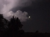 Moon and thunderstorm
