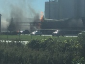Huge fire at Council Bluffs ethanol plant!