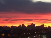 Sunrise over Boston