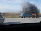 Car fire on I-80