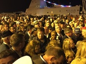 Huge backup when trying to leave USS Zumwalt ceremony