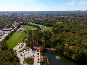 Aerial Photo of Manchester from above Dorrs Pond