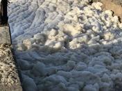 Storm foam off Moran Lake Beach