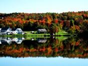 Morrisville, Lake Elmore foliage