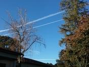 Chem trails over Stockton
