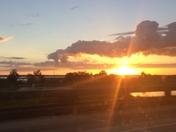 Sunset on the spillway
