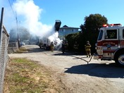 Video of a garbage truck on fire in Aptos