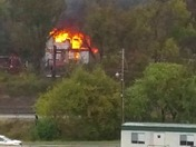 House fire on Interstate 70 near Rostraver Square