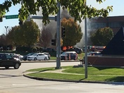 Car on fire Culver's parking lot on Jordan Creek parkway