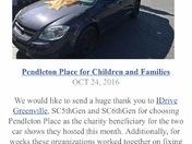 South Carolina Car Club donates a car to Pendleton Place Charities