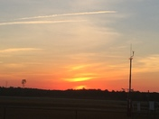 Sunrise on 10/26/2016 From Smith Reynolds Airport