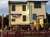 Ma Barker House Move Across Lake Weir