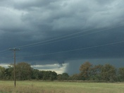 Severe Thunderstorm North of Ada, OK