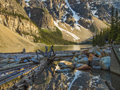 Logs of Moraine Lake