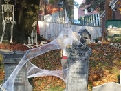 This is our cemetery for Halloween, we wanted you guys to come out and see it.