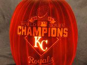 2015 World Series Champion pumpkin carve