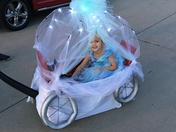 Cinderella in her princess carriage