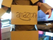 Amazon box costume.