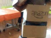 Amazon box costume.