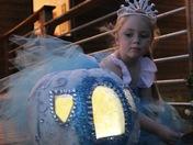Aurora Wimmer and her pumpkin