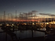 Sunset at the Jackson yacht club