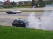 SUV fire on 71N at fields ertle thurs morning