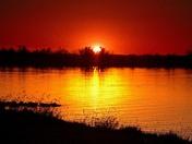 Sunse at Lake manawa tonight