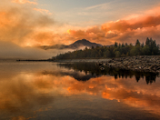 Sunrise at Stave Lake