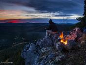 Little Bald mountain Sunset.